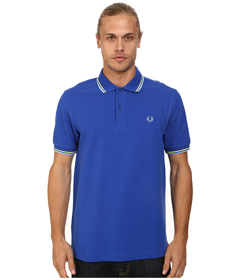 Imbracaminte Barbati Fred Perry Twin Tipped Fred Perry Polo RegalSoft YellowSky Blue