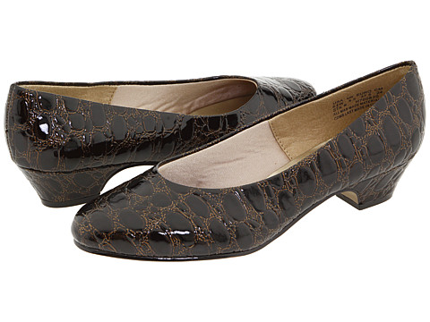 Incaltaminte Femei Soft Style Angel II Dark Brown Patent Croco