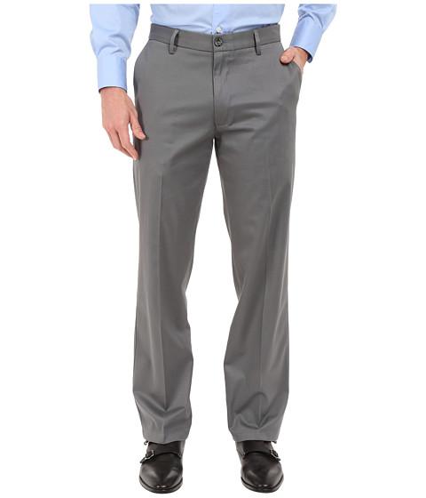 Imbracaminte Barbati Dockers Signature Khaki D2 Straight Fit Flat Front Burma Grey Stretch