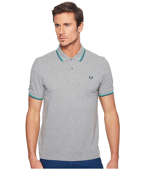 Imbracaminte Barbati Fred Perry Slim Fit Solid Plain Polo Steel BlueEmeraldEnamel Blue