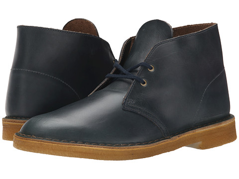 Incaltaminte Barbati Clarks Desert Boot Midnight Blue Leather