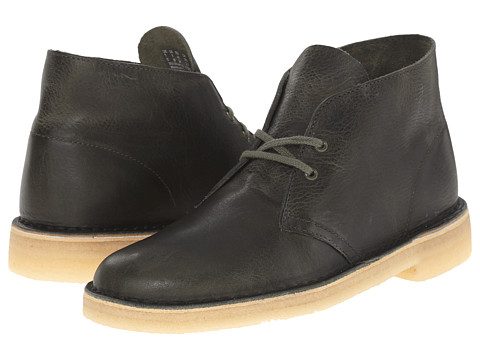 Incaltaminte Barbati Clarks Desert Boot Green Leather