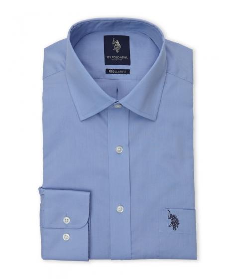 Imbracaminte Barbati US Polo Assn Ice Blue Poplin Dress Shirt Ice Blue