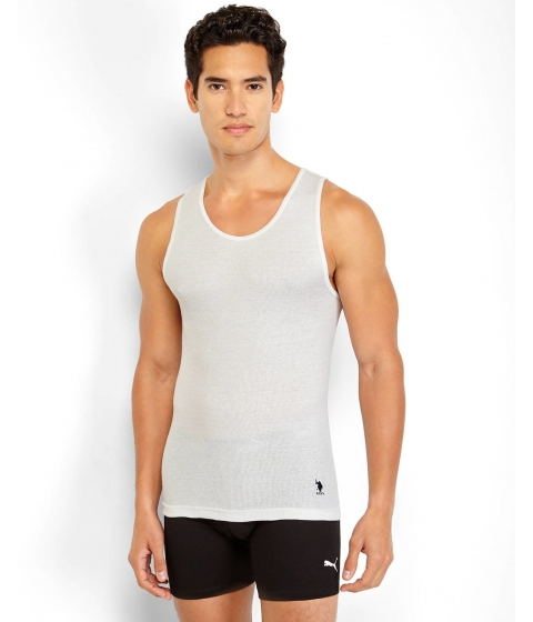 Imbracaminte Barbati US Polo Assn 3-Pack White Classic Ribbed Tanks White