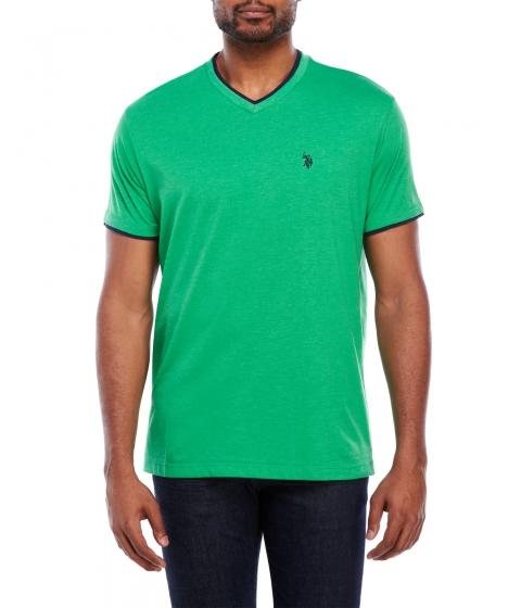 Imbracaminte Barbati US Polo Assn Double V-Neck Tee Green