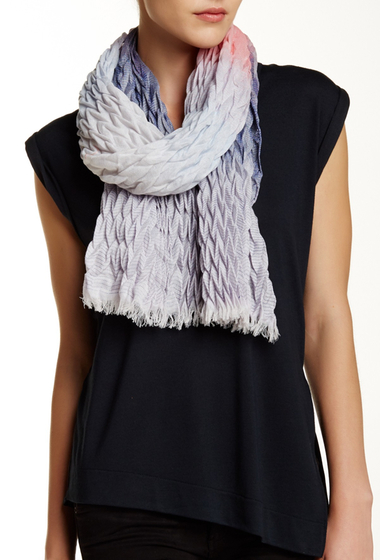 Accesorii Femei David Young Ombre Crinkle Oblong Scarf BLUE