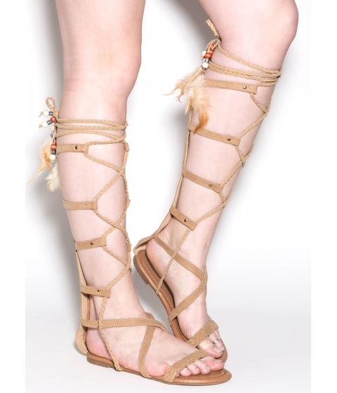 Incaltaminte Femei CheapChic Boho Dreams Gladiator Sandals Beige