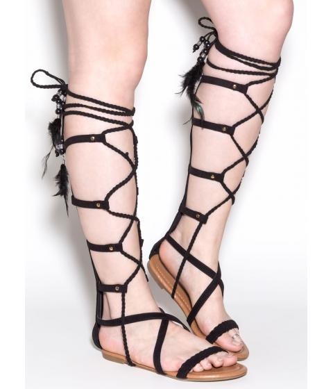 Incaltaminte Femei CheapChic Boho Dreams Gladiator Sandals Black