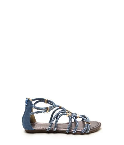Incaltaminte Femei CheapChic Push The Limit Denim Sandals Denim