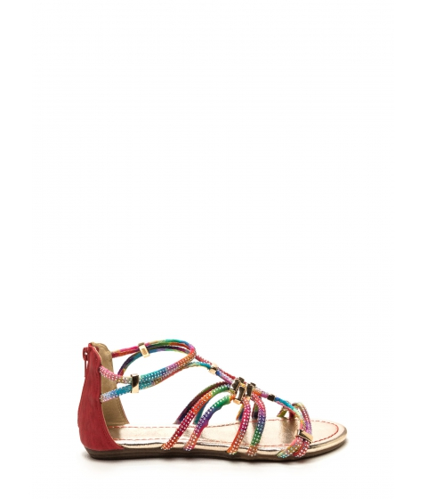 Incaltaminte Femei CheapChic Push The Limit Rainbow Sandals Redmulti