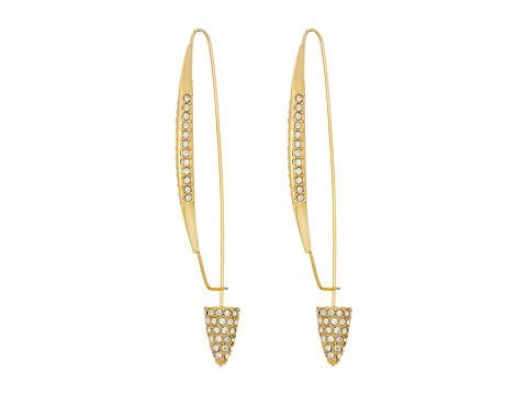 Bijuterii Femei Cole Haan Pave Triangle Pin Earrings GoldCrystal