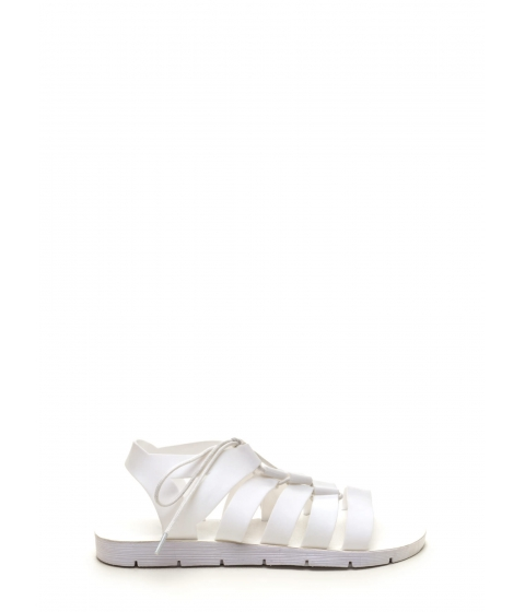 Incaltaminte Femei CheapChic Staycation Lace-up Sandals White