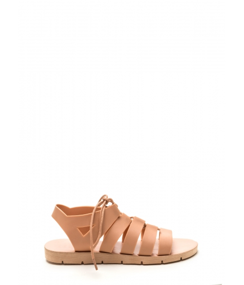 Incaltaminte Femei CheapChic Staycation Lace-up Sandals Nude