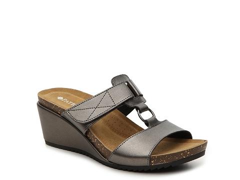 Incaltaminte Femei Patrizia by Spring Step Tamsin Wedge Sandal Pewter Metallic