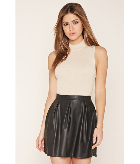 Imbracaminte Femei Forever21 Faux Leather A-Line Skirt Black