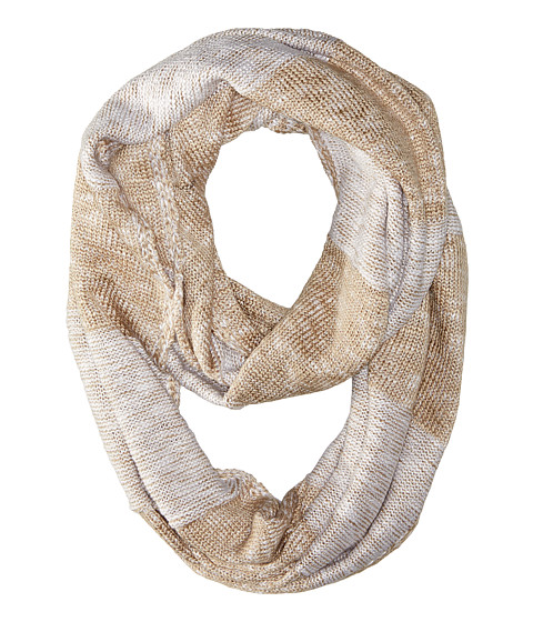 Accesorii Femei Calvin Klein Plaited Stripe Infinity Scarf Heathered Almond