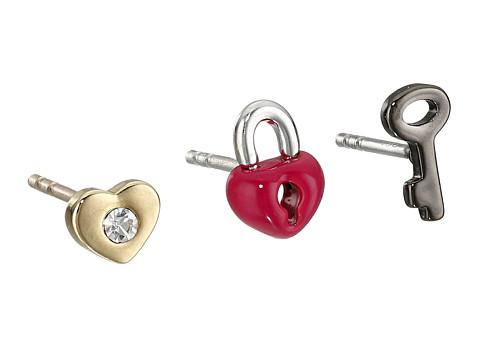 Bijuterii Femei Marc by Marc Jacobs Gift Giving Love Tiny Stud Earrings 3-Pack Black Multi