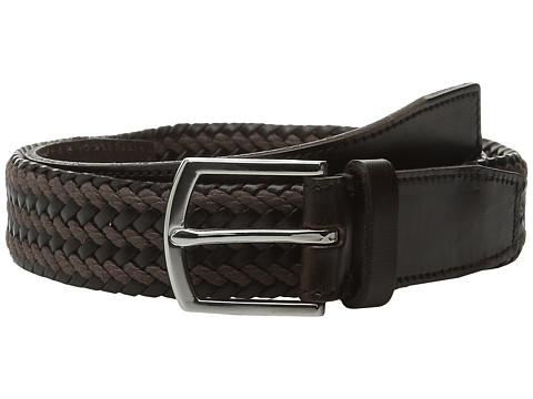 Accesorii Barbati Cole Haan 32mm Braided Belt with Harness Buckle Dark Brown