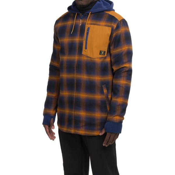 Echipament-sportiv Barbati DC Backwoods Flannel Shirt Jacket - Insulated CATHAY SPICE (01)