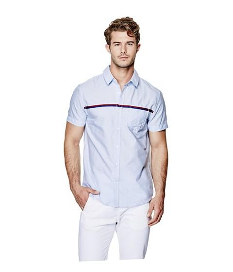 Imbracaminte Barbati GUESS Frederic Pinstripe Shirt true white multi
