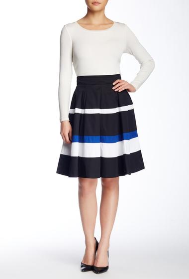 Imbracaminte Femei Amanda Chelsea Colorblock Circle Skirt BK-WT-BL