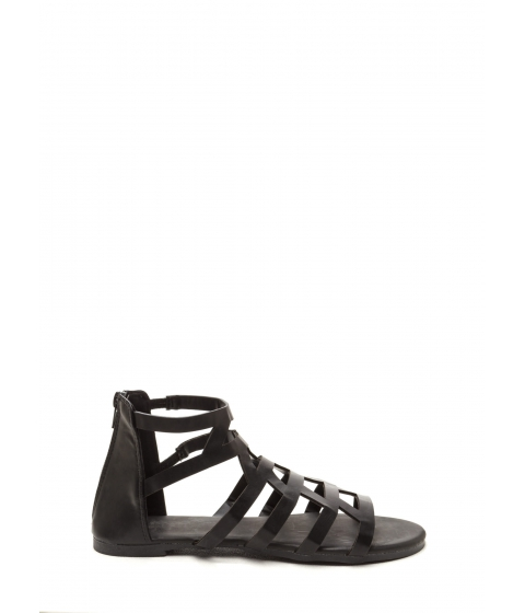 Incaltaminte Femei CheapChic Wild Child Faux Leather Sandals Black