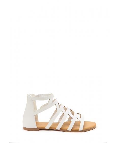 Incaltaminte Femei CheapChic Wild Child Faux Leather Sandals White