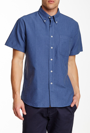 Imbracaminte Barbati Billy Reid Tuscumbia Short Sleeve Shirt NAVY