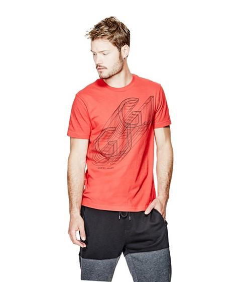 Imbracaminte Barbati GUESS Darrick Logo Tee red hot