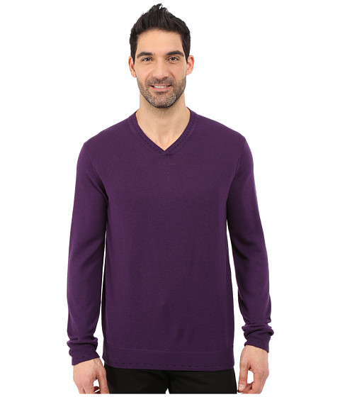 Imbracaminte Barbati Robert Graham Newcastle V-Neck Sweater Blackberry