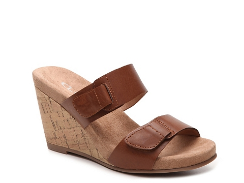 Incaltaminte Femei CL By Laundry Team Player Wedge Sandal Cognac