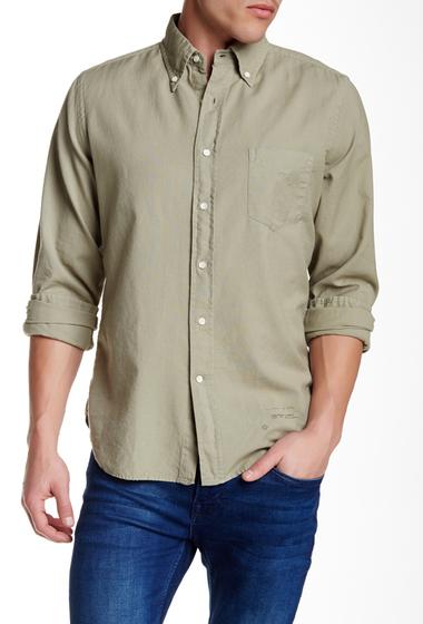 Imbracaminte Barbati Gant Rugger Solid Long Sleeve Hugger Fit Shirt MILITARY G
