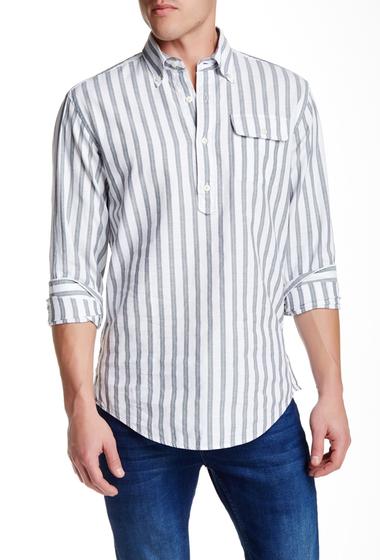 Imbracaminte Barbati Gant Rugger The MB Striped Long Sleeve Pullover Regular Fit Shirt CARMOISINE RED
