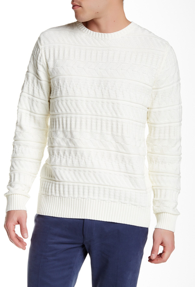 Imbracaminte Barbati Gant Rugger L Block Structure Sweater CREAM