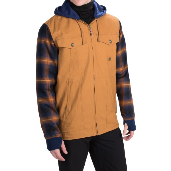 Echipament-sportiv Barbati DC Provoke Flannel Shirt Jacket - Insulated CATHAY SPICE (01)