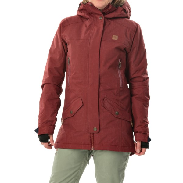 Echipament-sportiv Femei DC Nature Snowboard Jacket - Waterproof Insulated SYRAH (02)