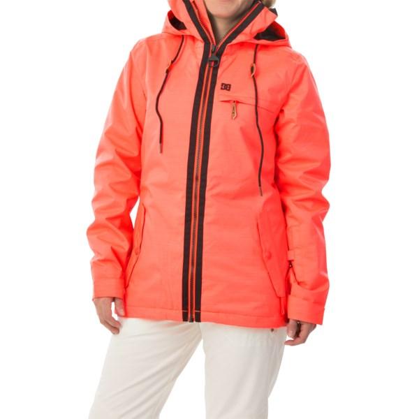 Echipament-sportiv Femei DC Revamp Snowboard Jacket - Waterproof Insulated FIERY CORAL (03)