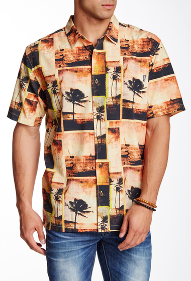 Imbracaminte Barbati Jack O'Neill Postcard Short Sleeve Regular Fit Shirt ORG