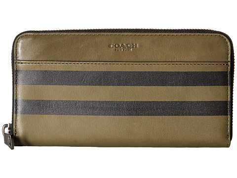 Genti Femei COACH Varsity Stripe Accordion Wallet Black