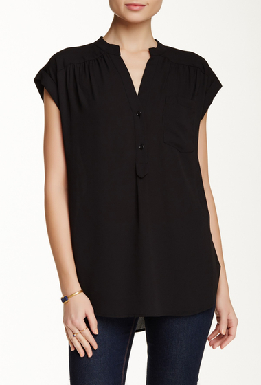 Imbracaminte Femei Pleione Short Sleeve Kim Blouse BLACK