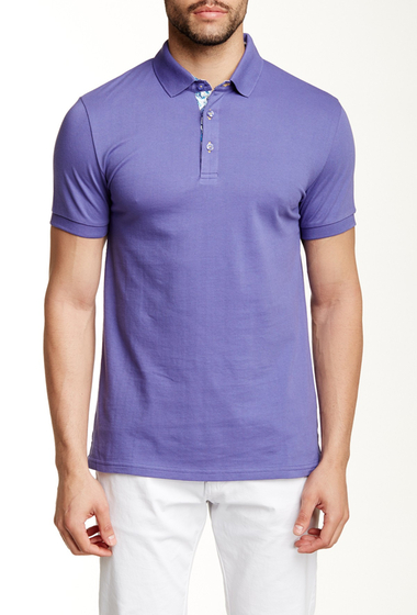 Imbracaminte Barbati Jared Lang Contrast Placket Short Sleeve Polo Purple