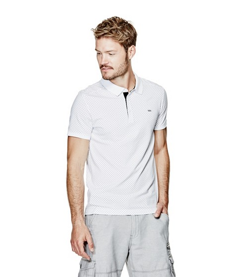 Imbracaminte Barbati GUESS Comino Polo true white