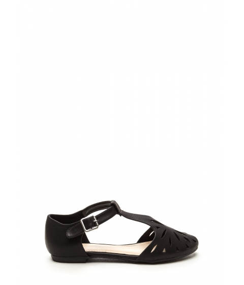 Incaltaminte Femei CheapChic Paris Street Style Faux Leather Flats Black