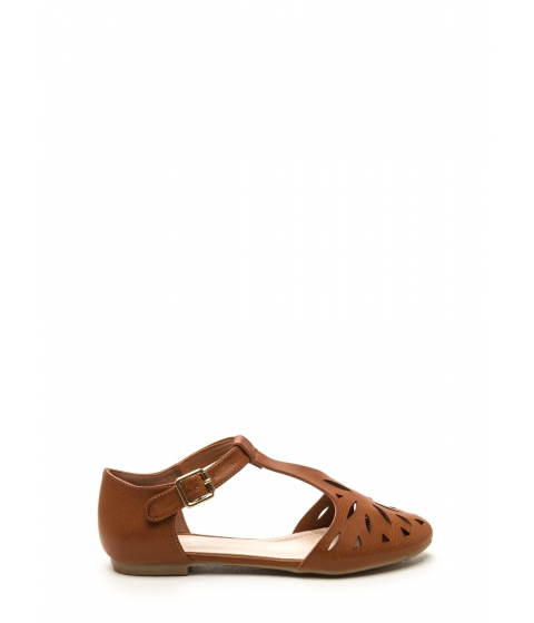 Incaltaminte Femei CheapChic Paris Street Style Faux Leather Flats Tan