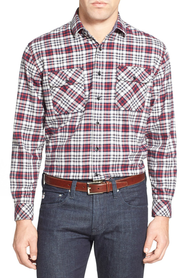 Imbracaminte Barbati James Campbell Camilla Regular Fit Plaid Sport Shirt COAL COMBO