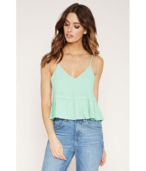 Imbracaminte Femei Forever21 Contemporary Pleated Cami Mint