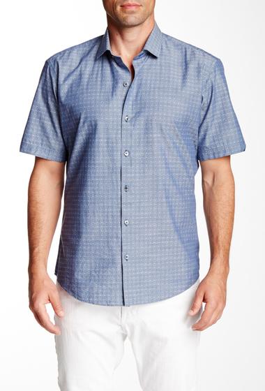 Imbracaminte Barbati Zachary Prell Shkuryna Short Sleeve Trim Fit Shirt Navy