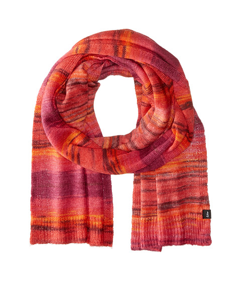 Accesorii Femei Echo Design Watercolor Long Muffler Madder Red Heather