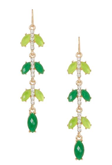 Bijuterii Femei Natasha Accessories Linear Dangle Earrings GREEN