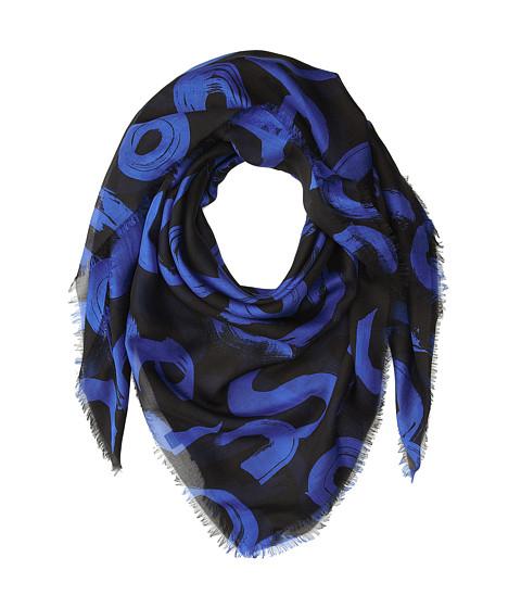 Accesorii Femei Proenza Schouler F00140 BSP102-20295 BlackElectric Blue Text Print